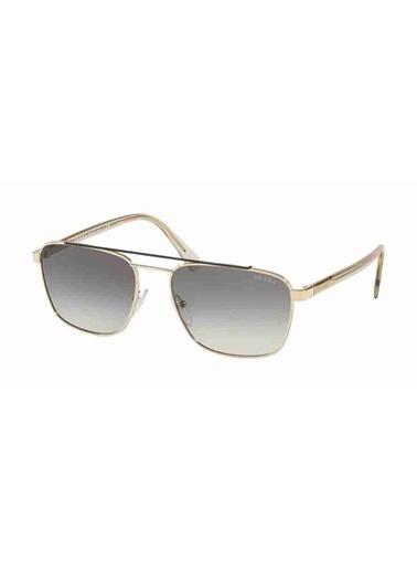 Prada Prada 61Us Wcv130 59 Ekartman Erkek Güneş Gözlüğü Altın